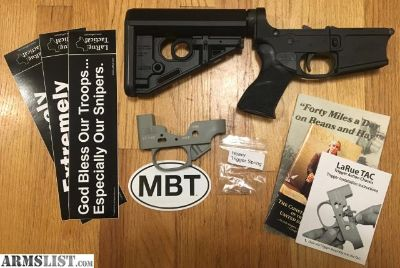 For Sale: LARUE TACTICAL complete AR-15 lower receiver, Brand New, with new Larue MBT trigger.