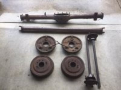 1957 Chevy Rear End & Drive Shaft Stored Inside Since 1975