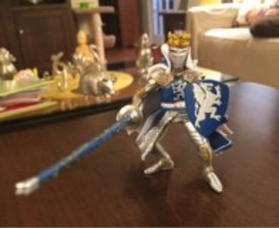 Blue/Silver Knight Figure