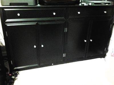 Black cabinet for buffet, tv cabinet, office, hallway, craft room, wherever