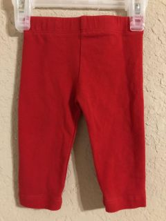 Rare Editions Red Leggings Pants. Very nice Condition. Great For Now or Christmas . Size 0-3 Months