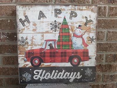 HOLIDAY WOOD TRUCK PLAQUE, $18. KNOXVILLE, 865-242-1512 ...
