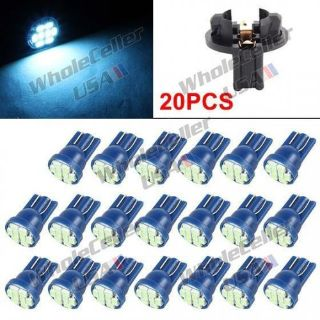 Purchase 20x Ice Blue T10 LED Bulbs Instrument Panel Speedo Tacho Gauge Cluster Lights motorcycle in Milpitas, California, United States