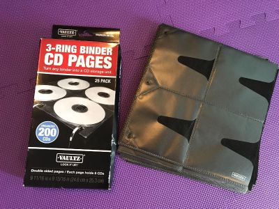 NEW 54 Double-Sided Vaultz 3-Ring Binder CD Pages