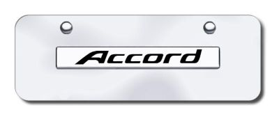 Purchase Honda Accord Name Chrome on Chrome Mini-License Plate Made in USA Genuine motorcycle in San Tan Valley, Arizona, US, for US $29.87