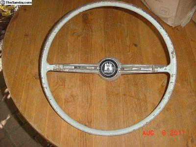 60-61 Only Steering Wheel, Complete type1, Ghia