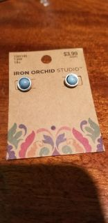 New Turquoise Silver Stud Earrings