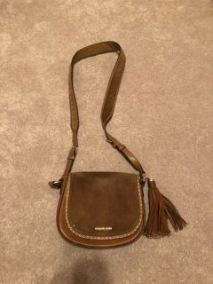 MICHAEL Michael Kors Brooklyn Saddle Tan Leather and Suede Cross Body Bag