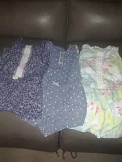 3 CARTER Girls 24 month old lot of clothes