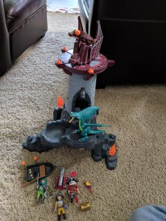 Playmobil tower with dragon and accessories