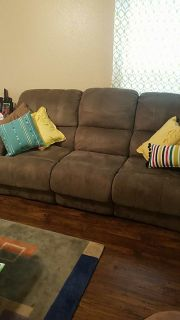 Green microfiber couch (pillows not included)