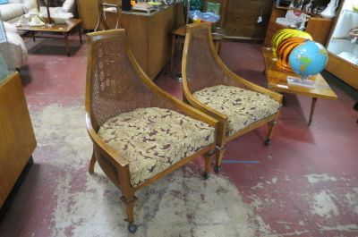 Vintage MCM pair of Adrian Pearsall lounge chairs