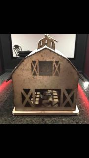 Farm house hanging candle holder
