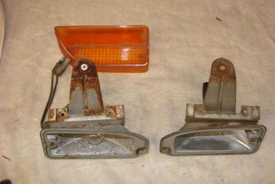 Find parking light turn signal front housing left right r/t 1970 70 coronet super bee motorcycle in Bay Village, Ohio, US, for US $74.70