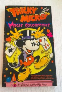 Vintage Disney Mickey Mouse Tricky Mickey Magic Colorforms