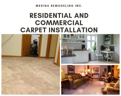 Residential and Commercial Carpet Installation. Hardwood, Laminate and Vinyl Flooring Installation