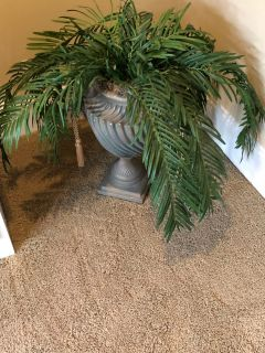 (2) Greenery with urns and pedestals