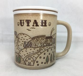 Utah Coffee Tea Cocoa Mug Mountain Sunset Sunrise Scenery Brown Souvenir Travel