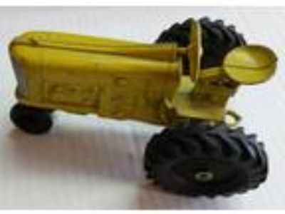 Vintage Kiddie Toy Die Cast Metal Tractor Yellow 5 ""