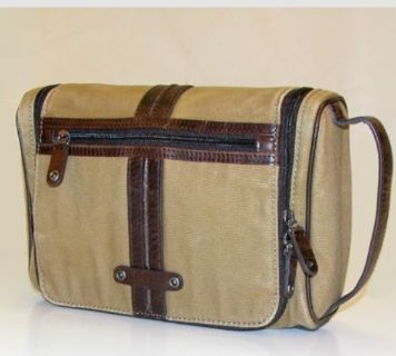 Fossil Canvas and Leather Travel Bag
