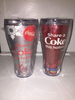 2 Royal Caribbean Coke Holiday Cups NEW $5.00 EACH