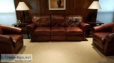 Leather Incliner Sofa