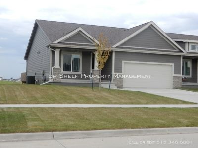 3 bedroom, 3 full bath townhouse in Ankeny