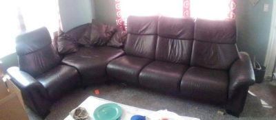 Ekornes Leather Sectional