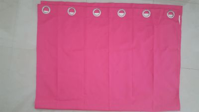 "Pink black out curtains. 2 panels. 41 1/2"" wide, 61 1/2"" long"