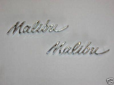 Buy 64 Chevelle Malibu Quarter Panel Emblems motorcycle in Placentia, California, United States