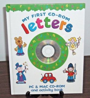 NEW Rare Early Learning My First CD-Rom LETTERS PC Mac Activity Book Educational A B C's