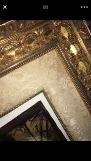 Expensive gold and fabric frame