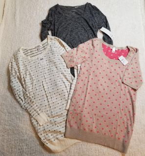 Lot of 3 Maternity sweaters, small, NEW WITH TAGS