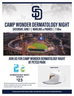 June 1st Padres Game benefitting Children with Skin Disease Foundation Camp Wonder