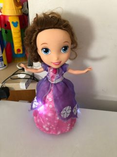 Sofia the first dancing talking doll