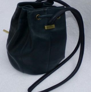 Rare, Navy Blue, Etienne Aigner Bucket Bag Purse (Never Used)