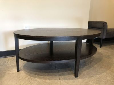 Crate & Barrel Oval Coffee Table