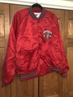 Vintage 1991 Chicago Bulls NBA World Champions Red Jacket