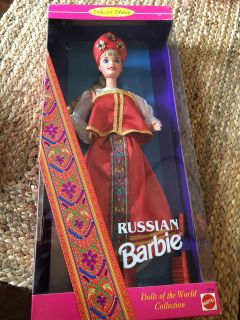 Collectable Barbie from 1996. Would be great for Girl Scout troop for thinking day. Or for a girl with Russian heritage.