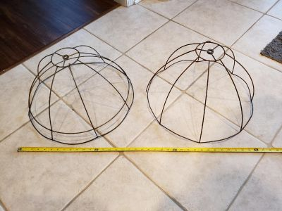 I have 2 old lamp shade frames. Will make great project pieces.