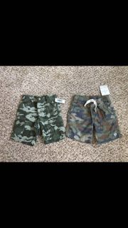 Old Navy & Carter's Camo Shorts. Size 3t. New with Tags.