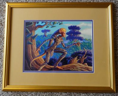 "Original Signed Painting - HILDEBRANDT BROTHERS - ""Elvish Lookout"" - Magic The Gathering"