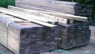 Lumber for sale. Yellow pine