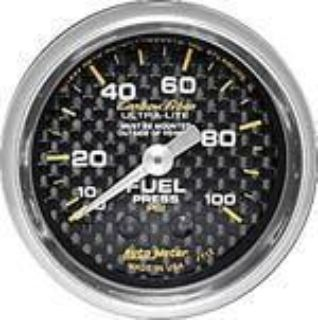 Purchase Autometer Carbon Fiber Series-Fuel Press Gauge 2-1/16 mechanical 0-100 psi 4712 motorcycle in Winchester, KY, US, for US $72.00