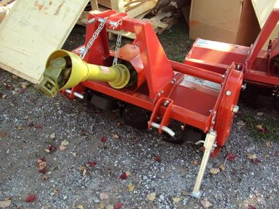 New 3pt 40 gear drive pto driven tiller for compact tractors