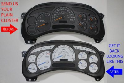 Purchase CUSTOM YUKON SIERRA DENALI CLUSTER REPAIR SERVICE WITH ESCALADE GAUGE TRIM PARTS motorcycle in Putnam, Connecticut, US, for US $225.00