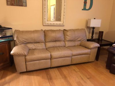 Pleather couch, great condition (see notes) $100
