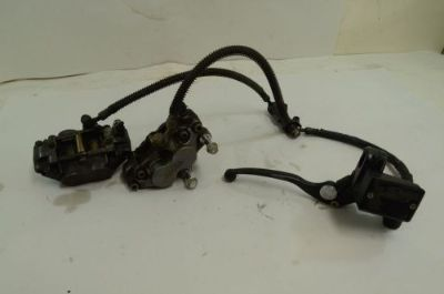 Sell Kawasaki ZX6 ZX600E Ninja Front Brake Assembly Calipers Master Cylinder 1993 motorcycle in Fort Worth, Texas, United States, for US $59.95
