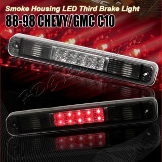 Purchase For 1988-1999 Chevy/GMC C/K 1500 2500 Smoke Lens LED Third 3RD Brake Tail Light motorcycle in Walnut, California, United States
