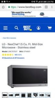 LG smart microwave **almost new**